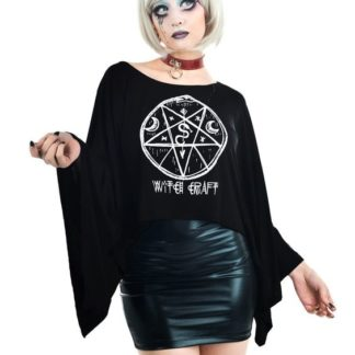 Witchy Pentagram Coven Cape Top